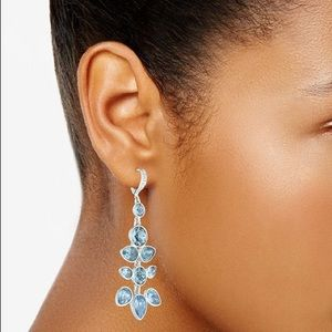 Givenchy Silver Crystal Chandelier Earrings